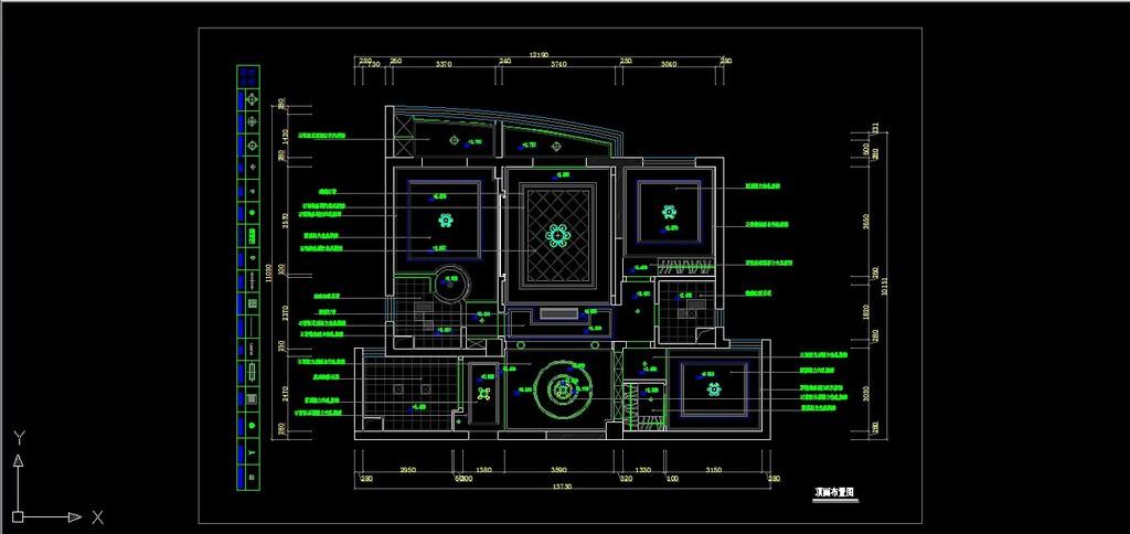 简欧风格家装室内装修cad施工设计图纸