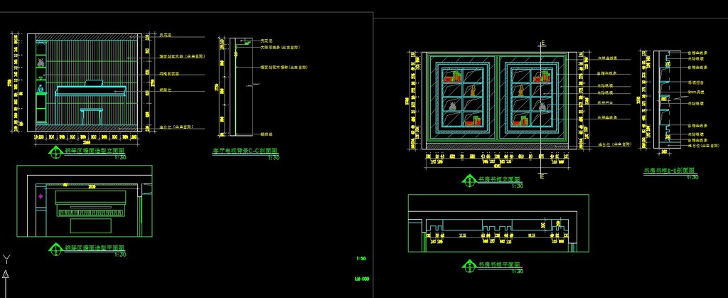 欧式风格家装室内装修cad施工设计图纸