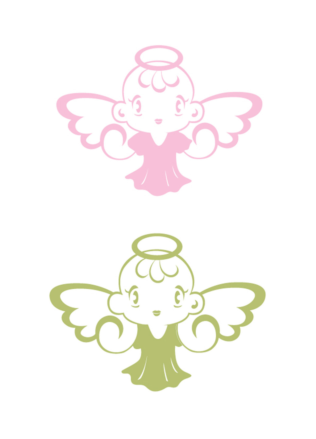 小天使标志设计logo设计ai文件