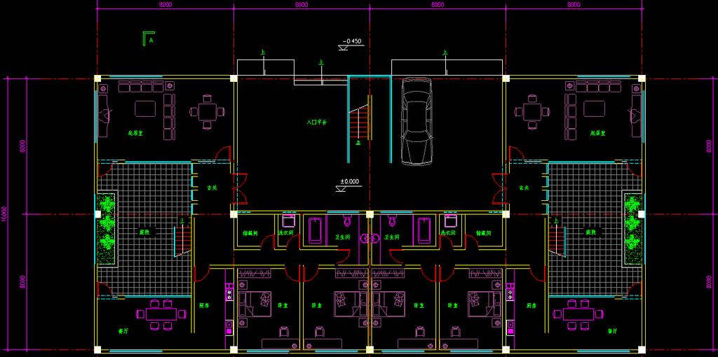 别墅布局方案图cad图纸模板下载(图片编号:12269305)