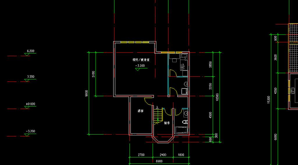 别墅布局图cad图纸模板下载(图片编号:12269368)