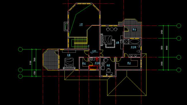 别墅布局方案图cad图纸模板下载(图片编号:12269399)