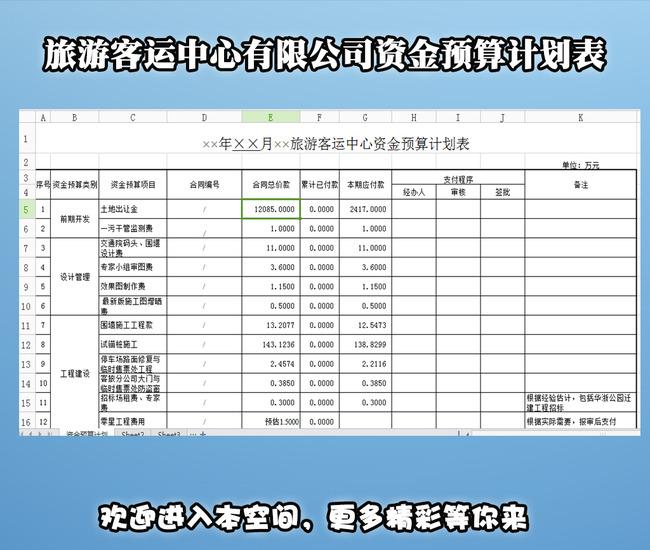 【创建文明村资金计划表】