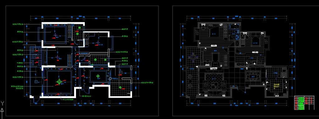 现代风格室内装修cad施工设计图纸