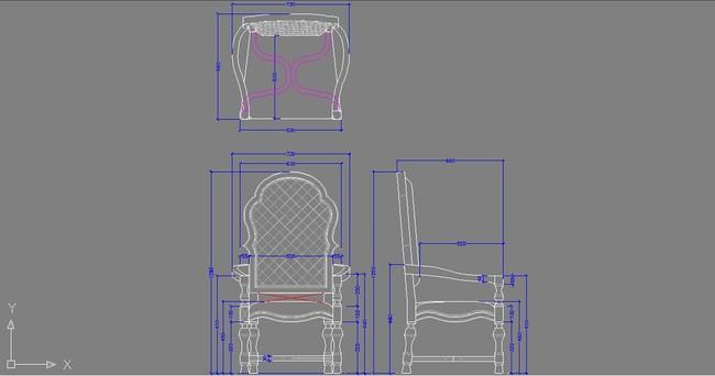 家具cad图家具 cad图纸家具 椅子设计cad三视图 设计图cad家具设计