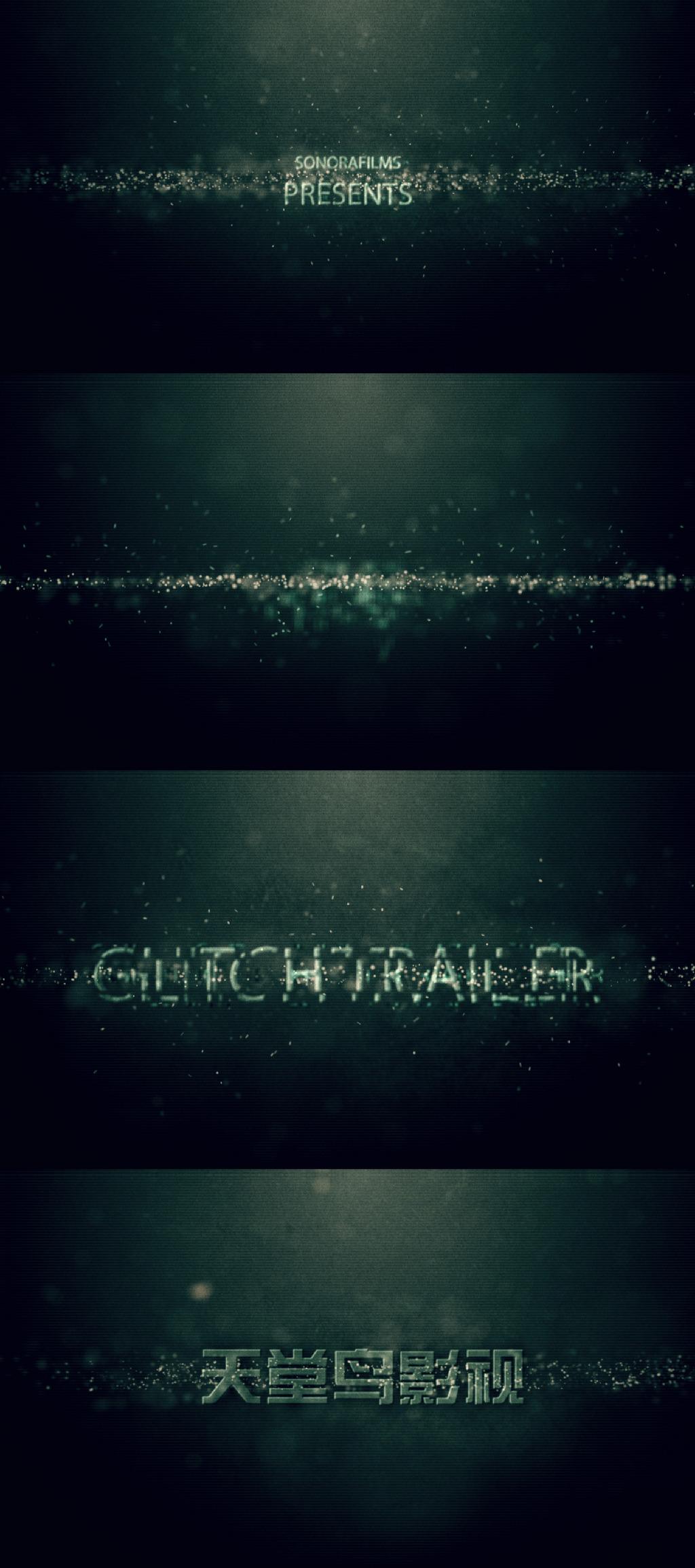 诡异数字风格的电影片头字幕展示模板下载