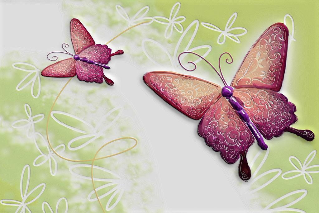 手绘花瓣背景墙图片下载