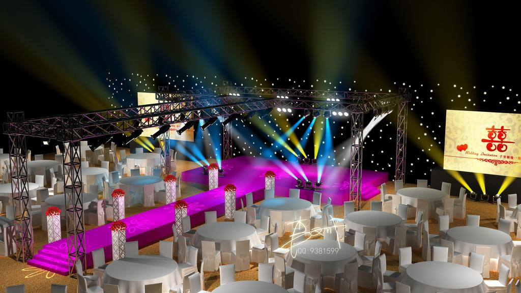 婚礼路引舞台舞美设计效果图模板下载(图片编号:)