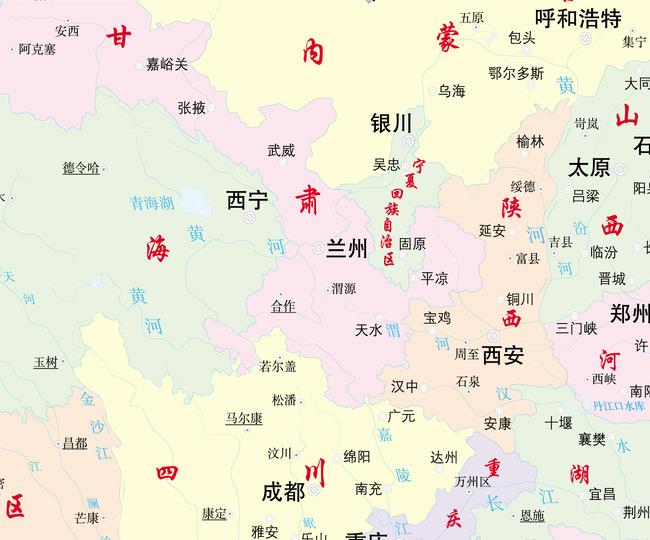 中国地图矢量图立体地图