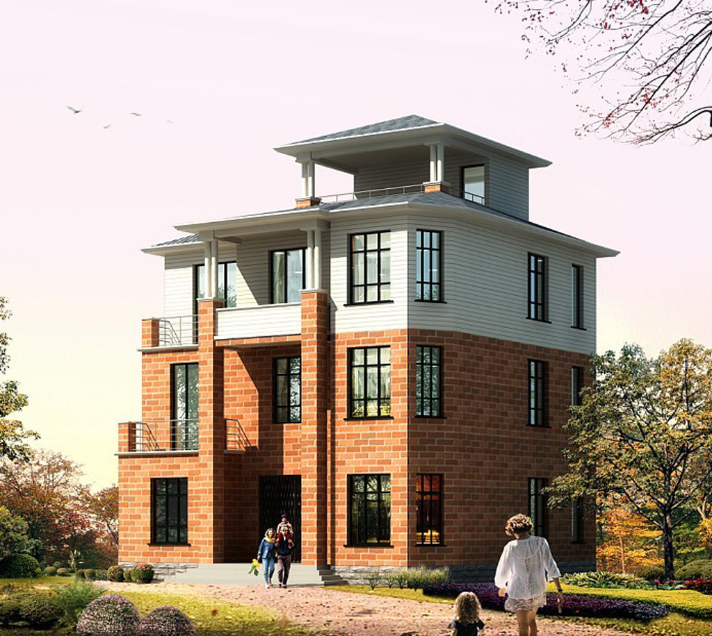 效果图 图纸/别墅新颖带门窗及建筑说明布局CAD图纸