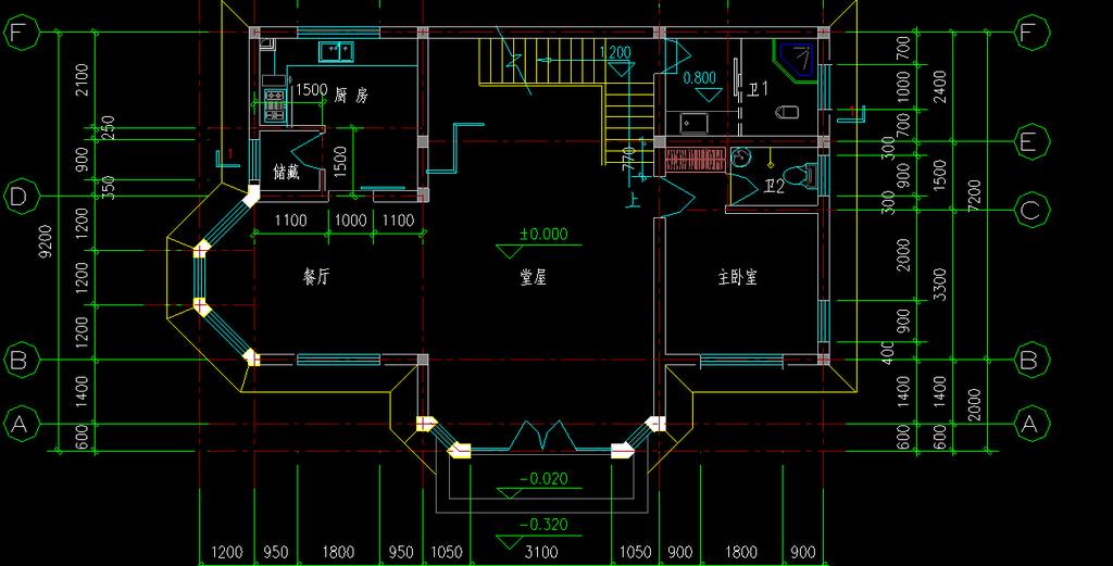 三层别墅施工图带水电布局图cad图纸模板下载(图片:)