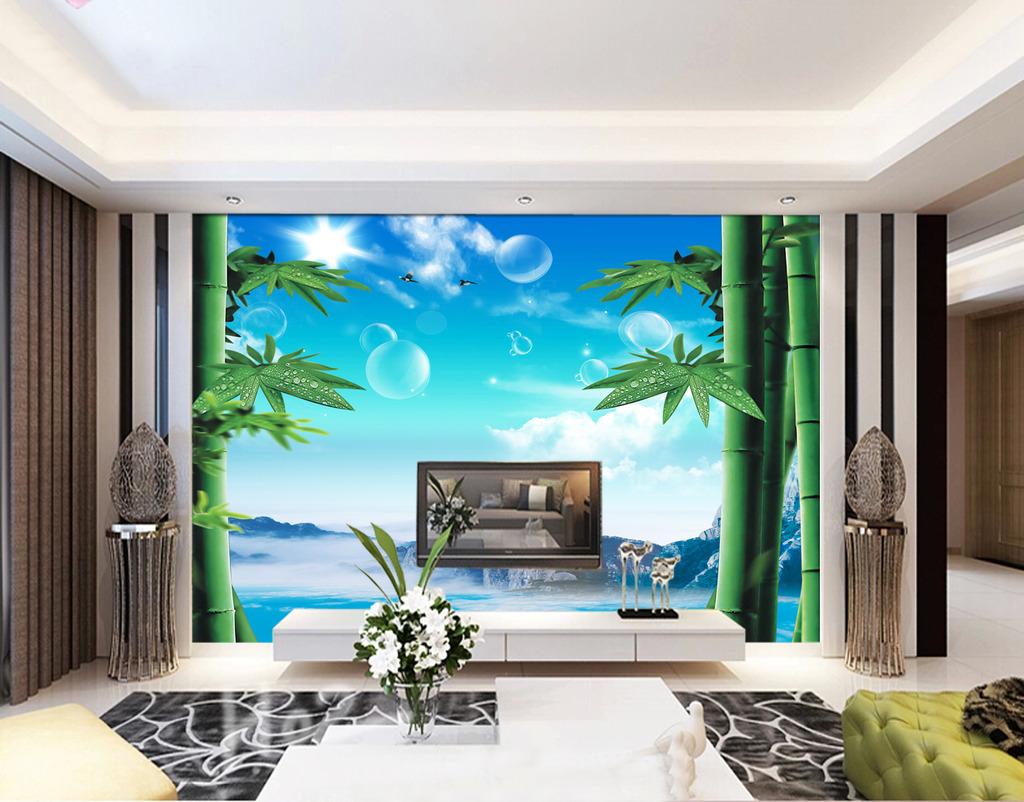 电视墙设计效果图2017