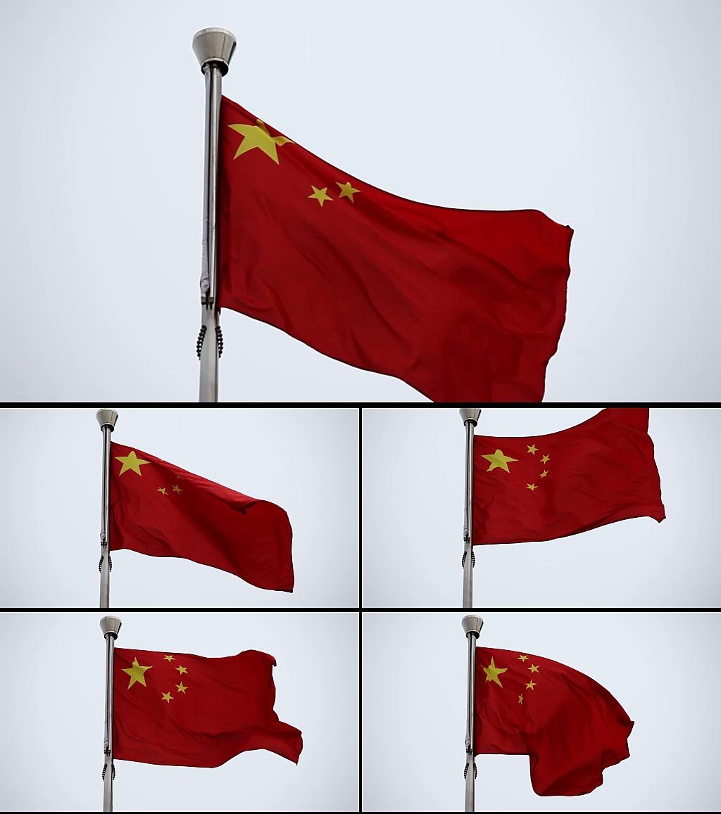 五星红旗中国国旗视频素材vj背景图片