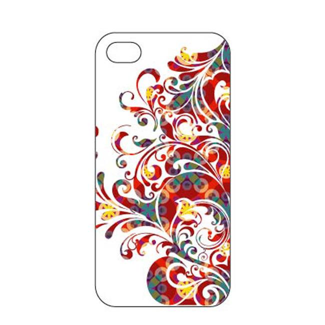 彩色动感线条人物元素创意手机壳模板