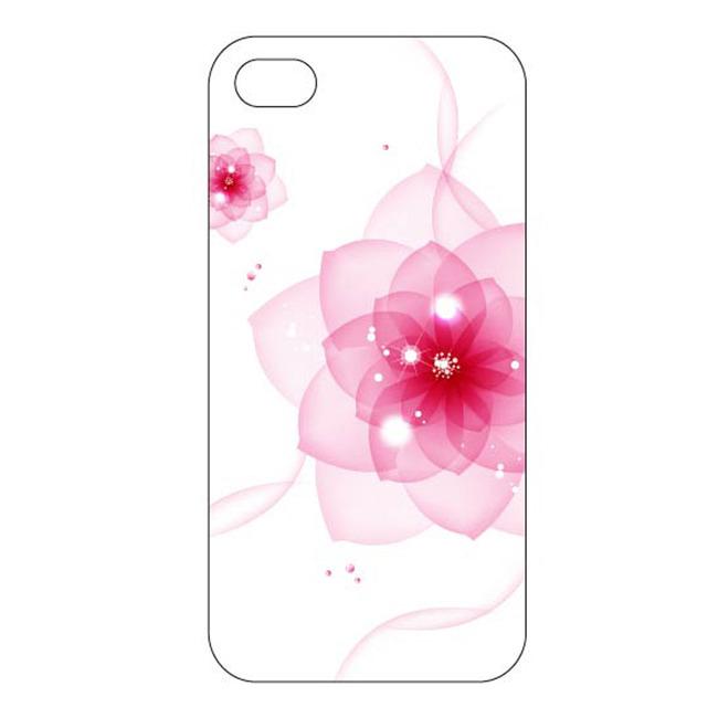 粉色花卉创意手机壳设计模板