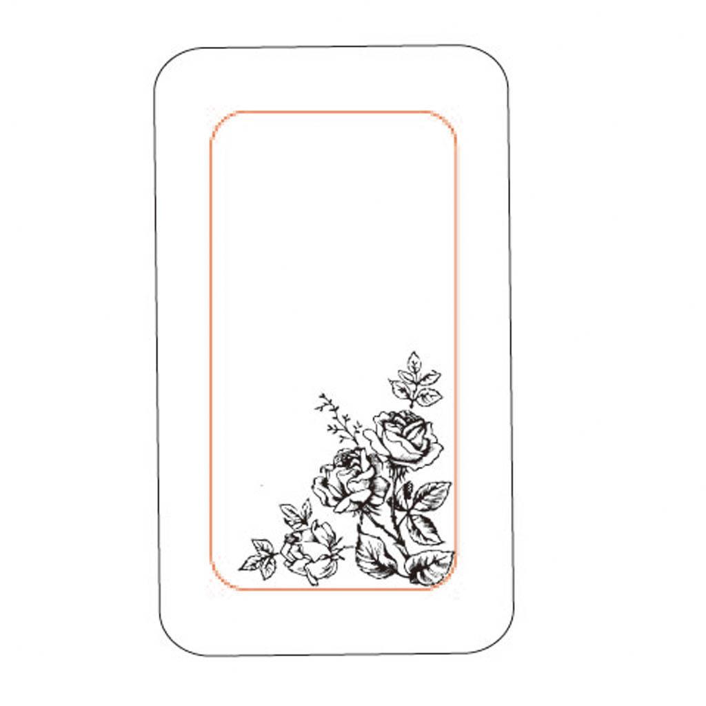 黑白花卉创意手机壳设计模板图片下载 黑白花卉创意手机壳设计模板