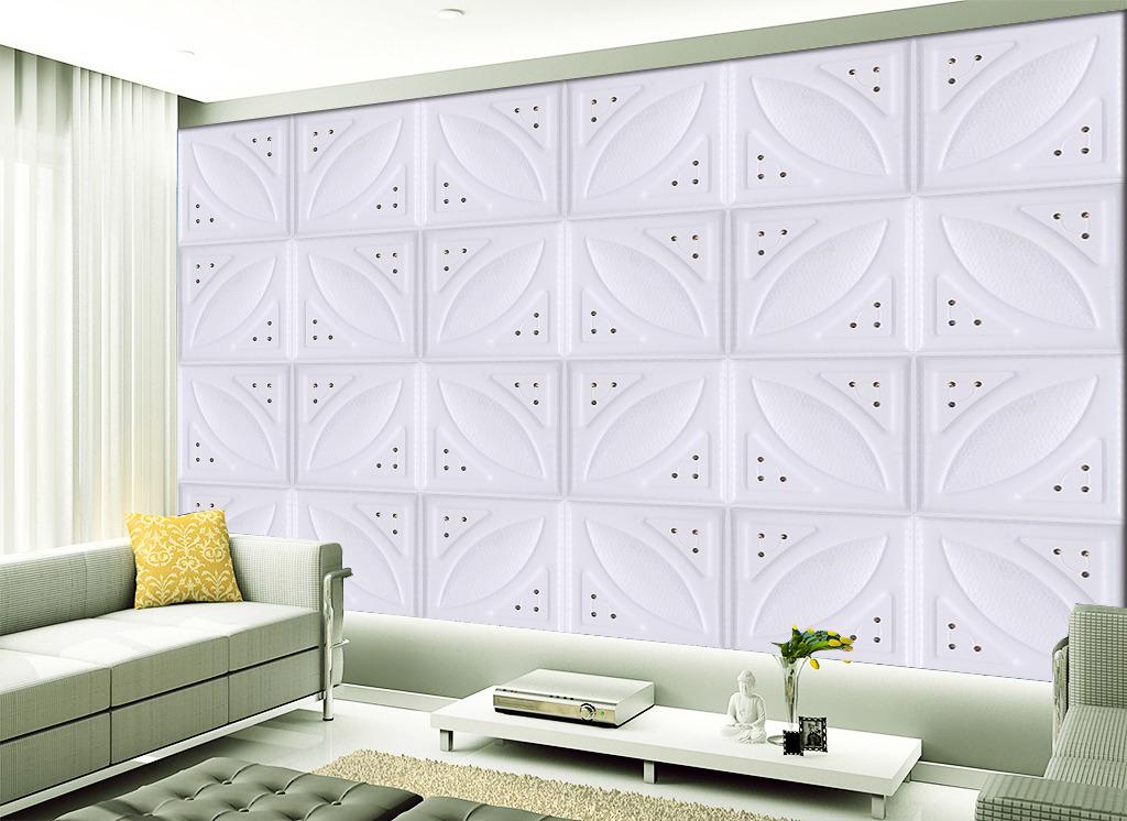 欧式3d浮雕立体皮雕软包电视背景墙