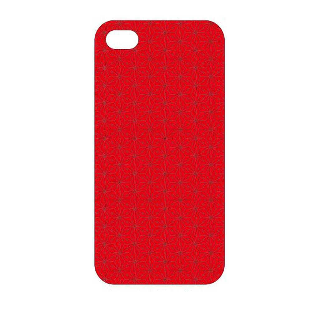 红色块面动感手机壳素材模板