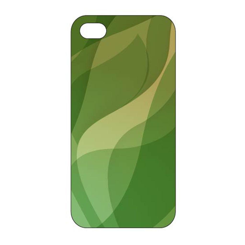 绿色块面动感创意手机壳设计模板