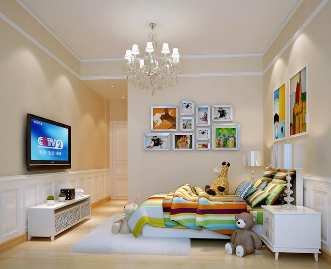 室内设计房间3d模型和3d效果图下载模板下载(图片编号