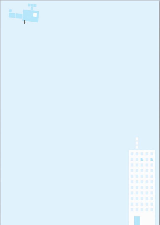 蓝色背景小清新信纸模板word图片