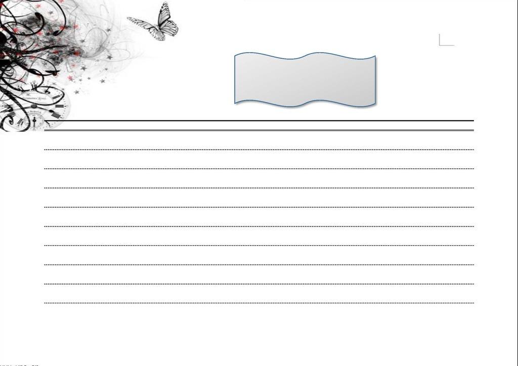 清新中国风水墨画信纸背景图片
