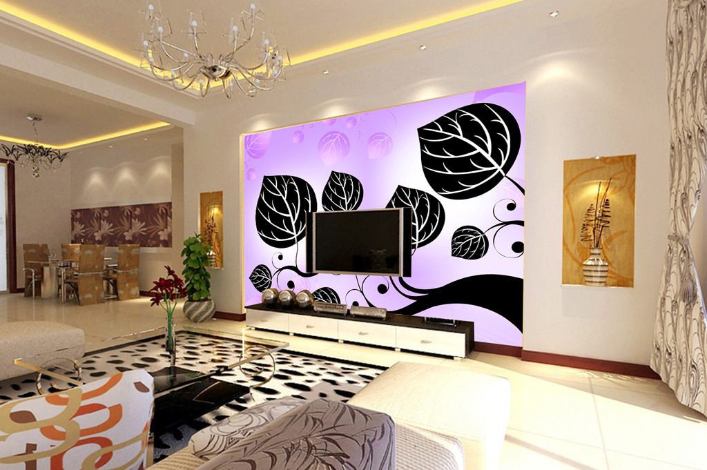 中式电视背景墙_设计图分享