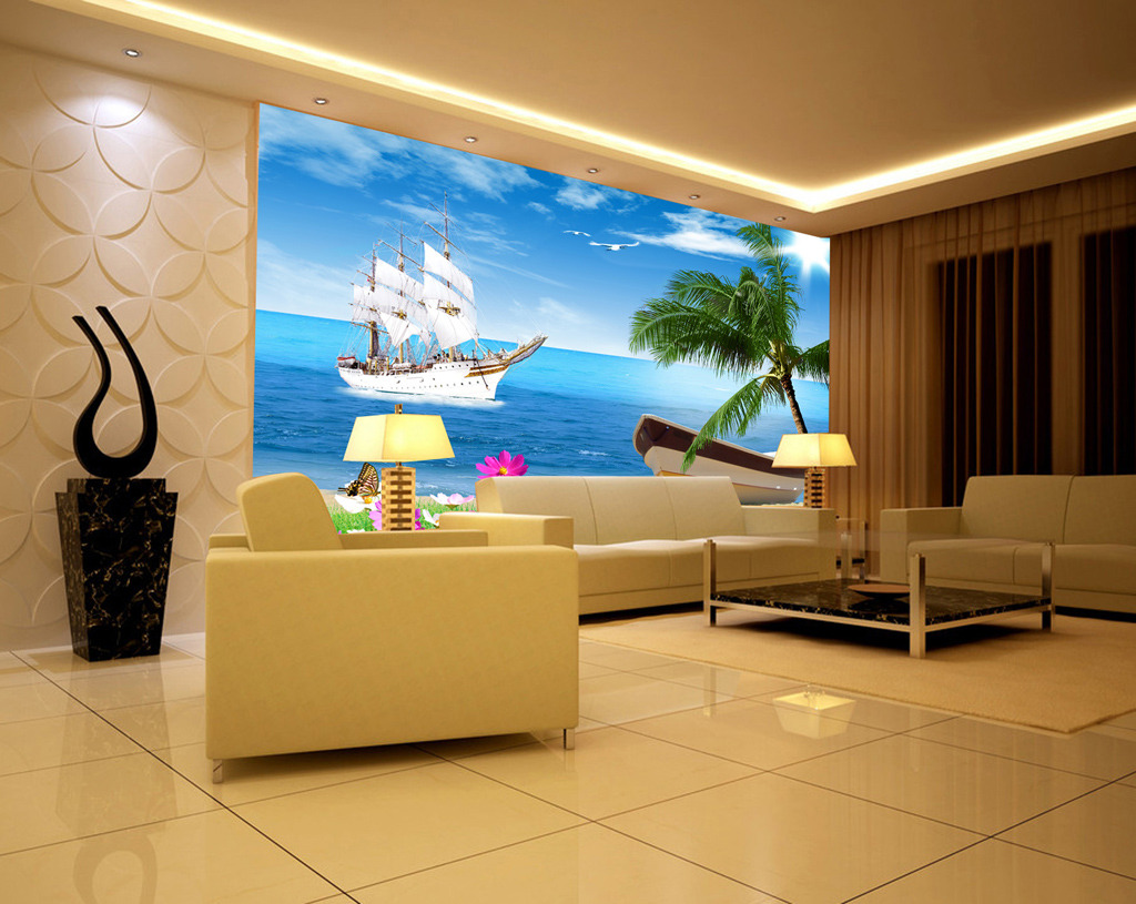 高清欧式电视背景墙素材欧洲风光电视背景墙装饰画图片下载 电视背景