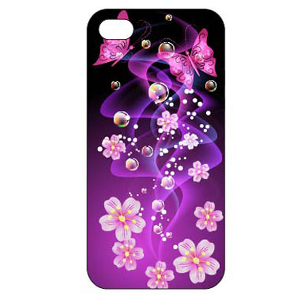 紫色花卉创意手机壳设计模板