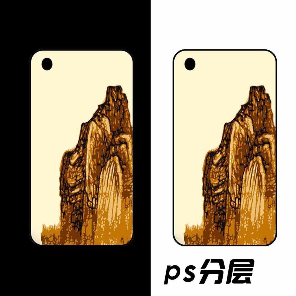 ps手绘中国风手机壳图案设计模板下载 ps手绘中国风手机壳图案设计