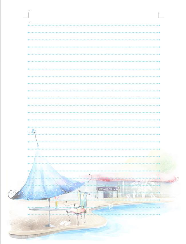 a4背景高清图卡通