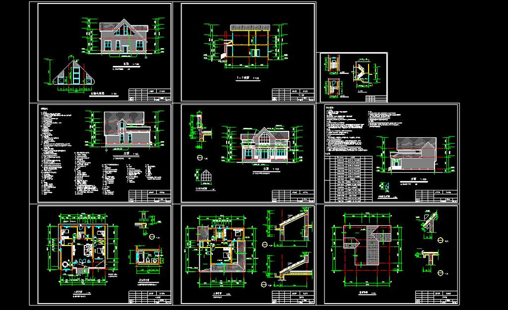 别墅cad图纸模板下载(图片编号:12293271)