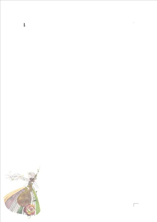 卡通少女信纸word模板下载(图片编号:12293929)_信纸图片