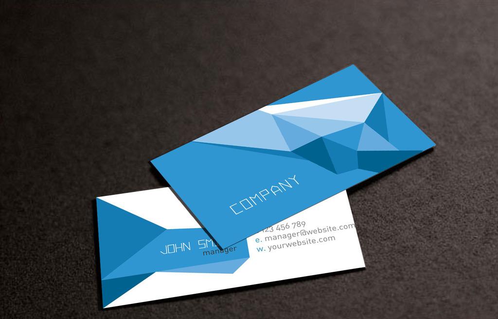 蓝色立体高档名片模板下载(图片编号:12294574)