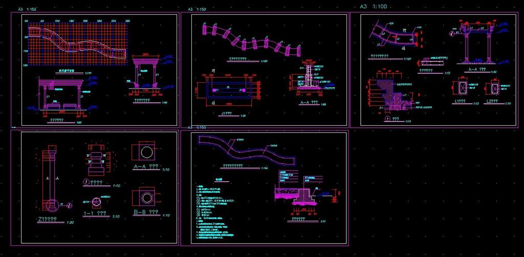欧式廊cad施工图模板下载(图片编号:12296614)