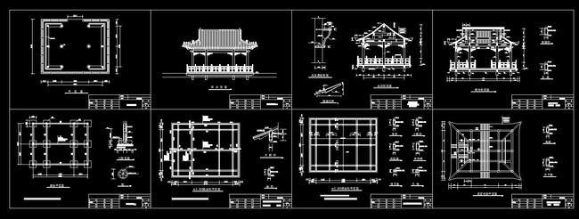 水榭设计方案cad施工图模板下载(图片编号:12297761)