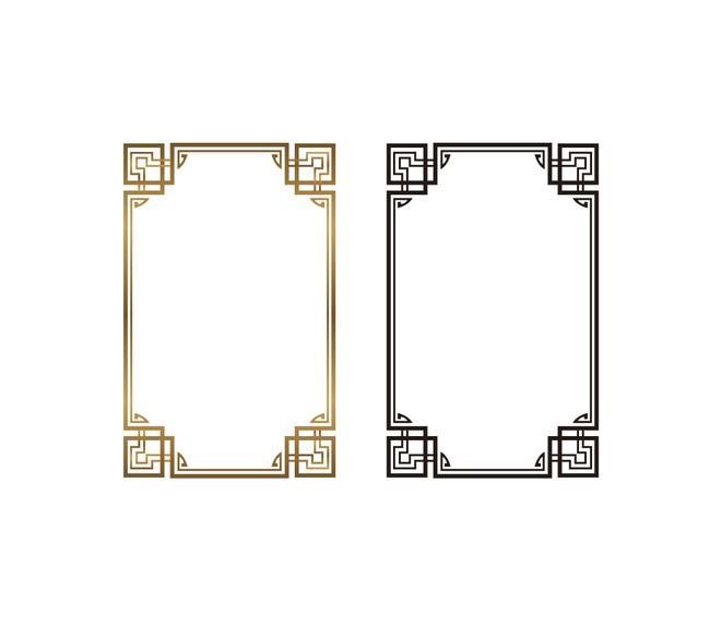 传统画框雕刻长方形中国风画框图片