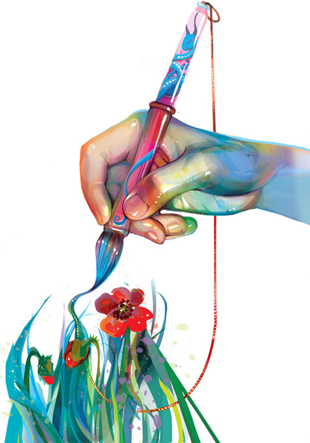 画笔颜料手