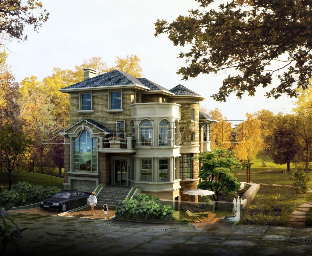 别墅/欧式别墅全套施工方案CAD图纸