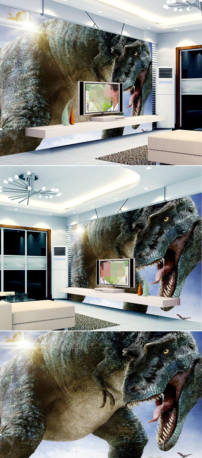 我图网提供精品流行大型高清3D立体恐龙壁画背景墙素材下载,作品模板源文件可以编辑替换,设计作品简介: 大型高清3D立体恐龙壁画背景墙 位图, RGB格式高清大图,使用软件为 Photoshop CS2(.tif不分层) 3D