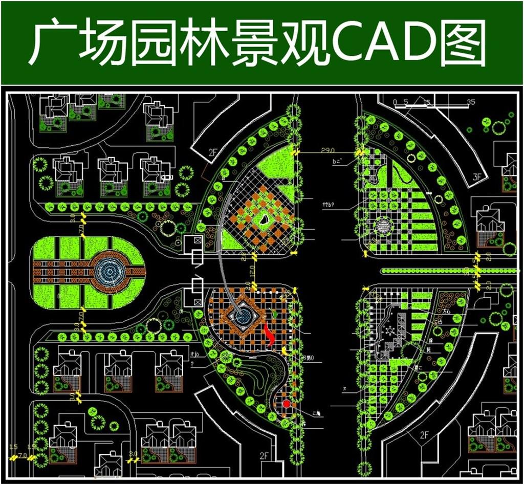 天苑广场详细规划总cad平面图模板下载 天苑广场详细规划总cad平面图