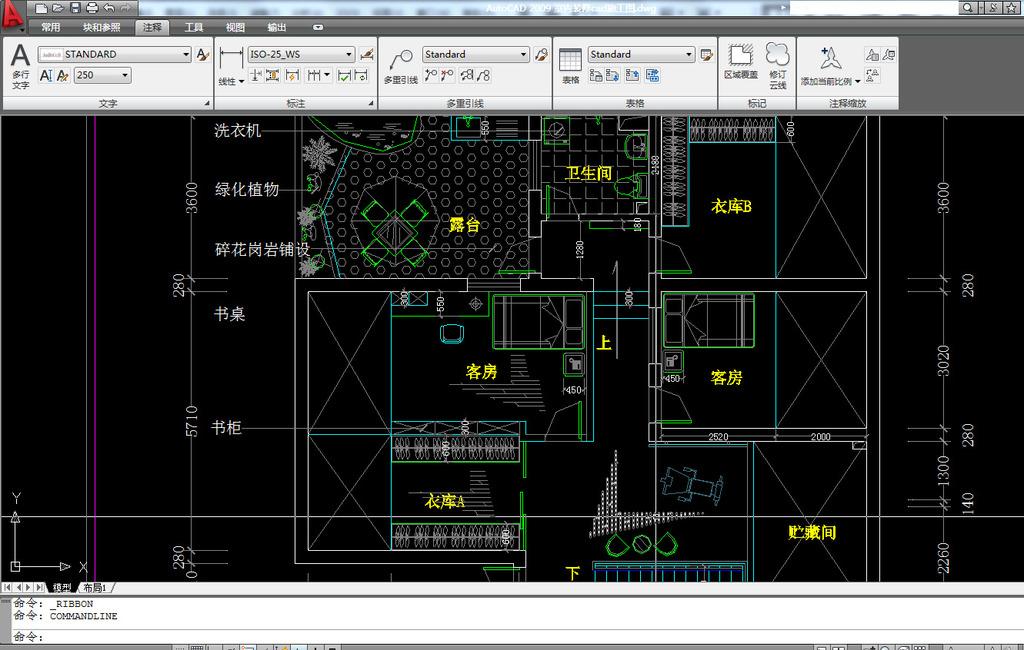 室内装修cad施工图cad施工图模板下载(图片编号:)_cad