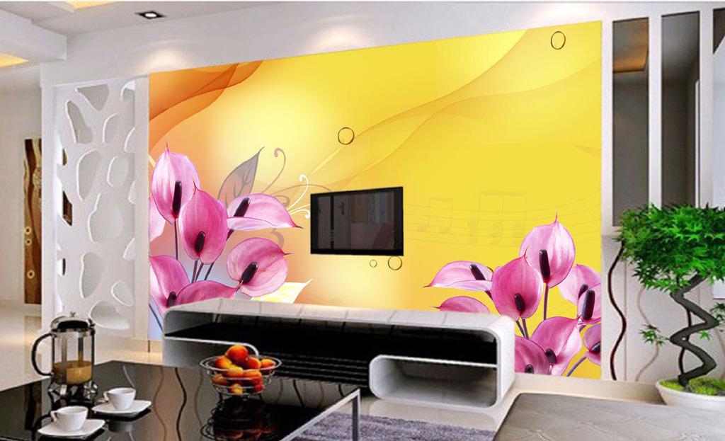 音乐花客厅电视背景墙