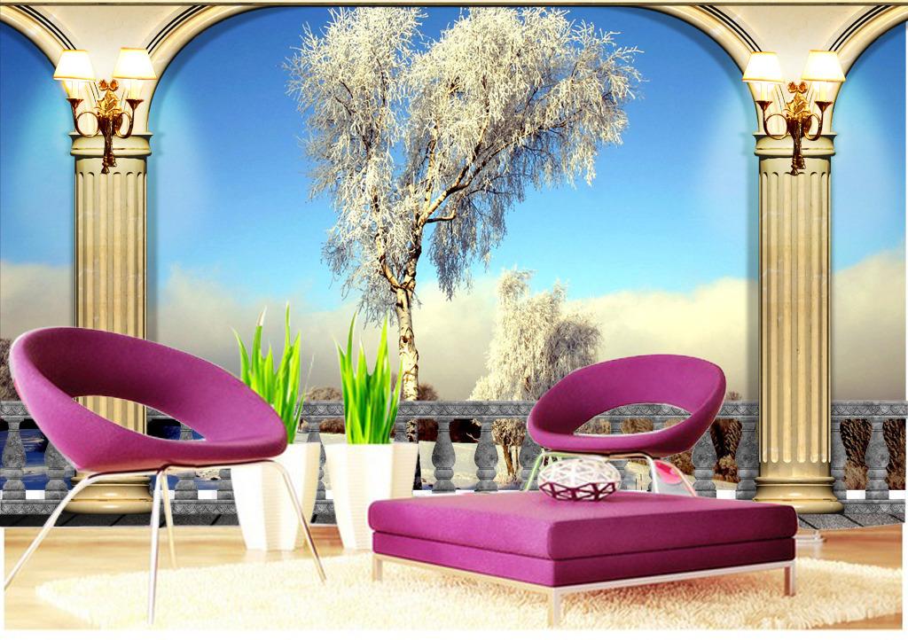 欧式3d电视背景墙模板下载(图片编号:12306426)