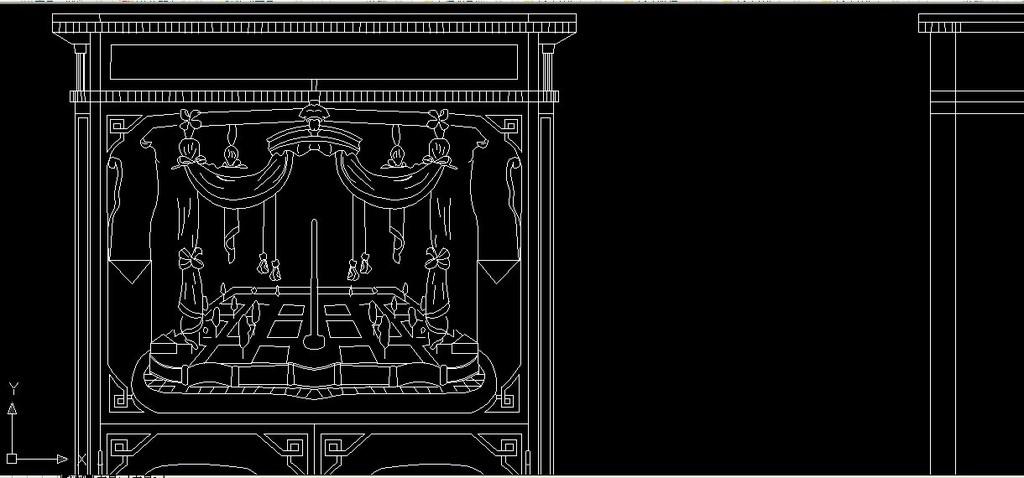 室内设计 cad图库 家具cad图纸 > 路易十六时期带有彩木饰面与镀金