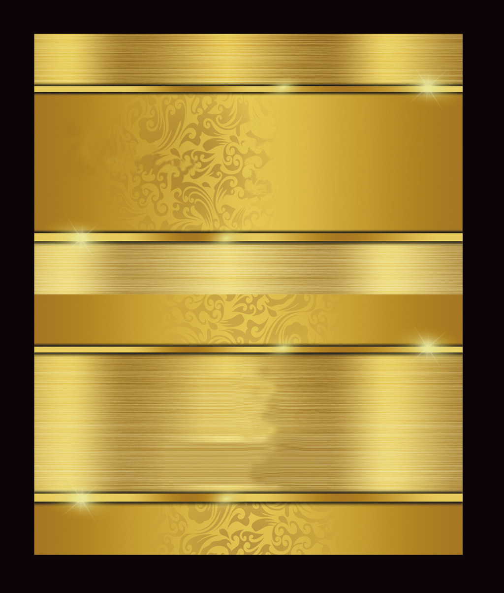金黄色高档vip卡设计psd模板