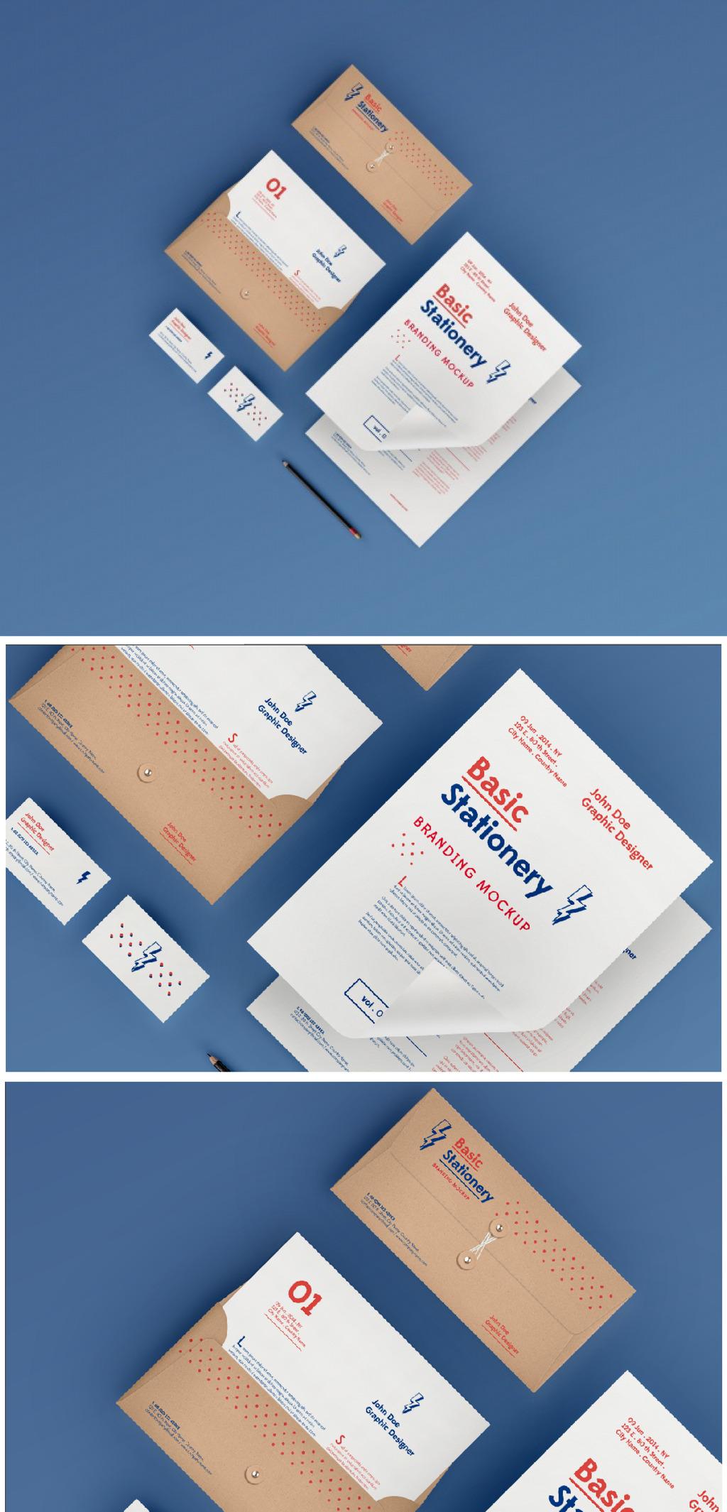 精品企业vi名片信封信纸模板模板下载