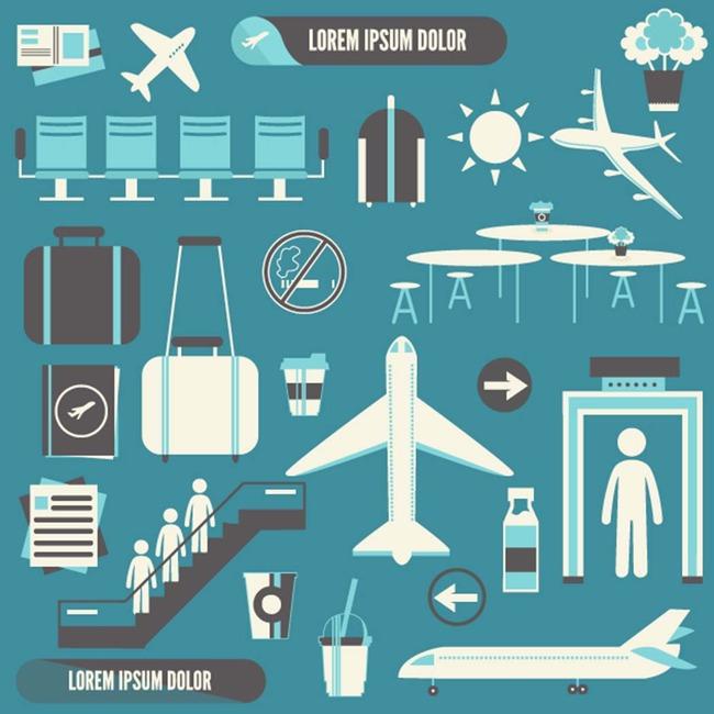 飞机机场ai矢量图素材