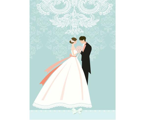 婚礼结婚人物插画