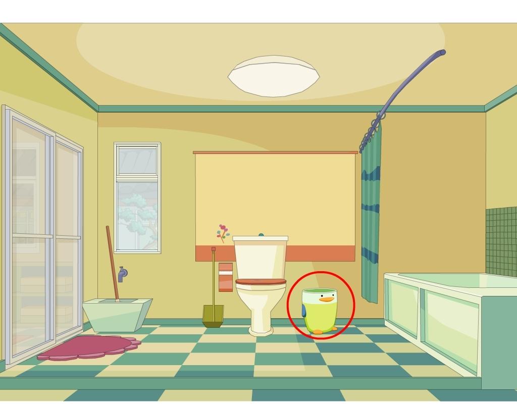 卡通室内卫生间马桶柜子